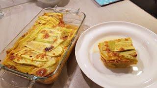 Кабачковая лазанья или мусака с курицей. Диетическое блюдо.