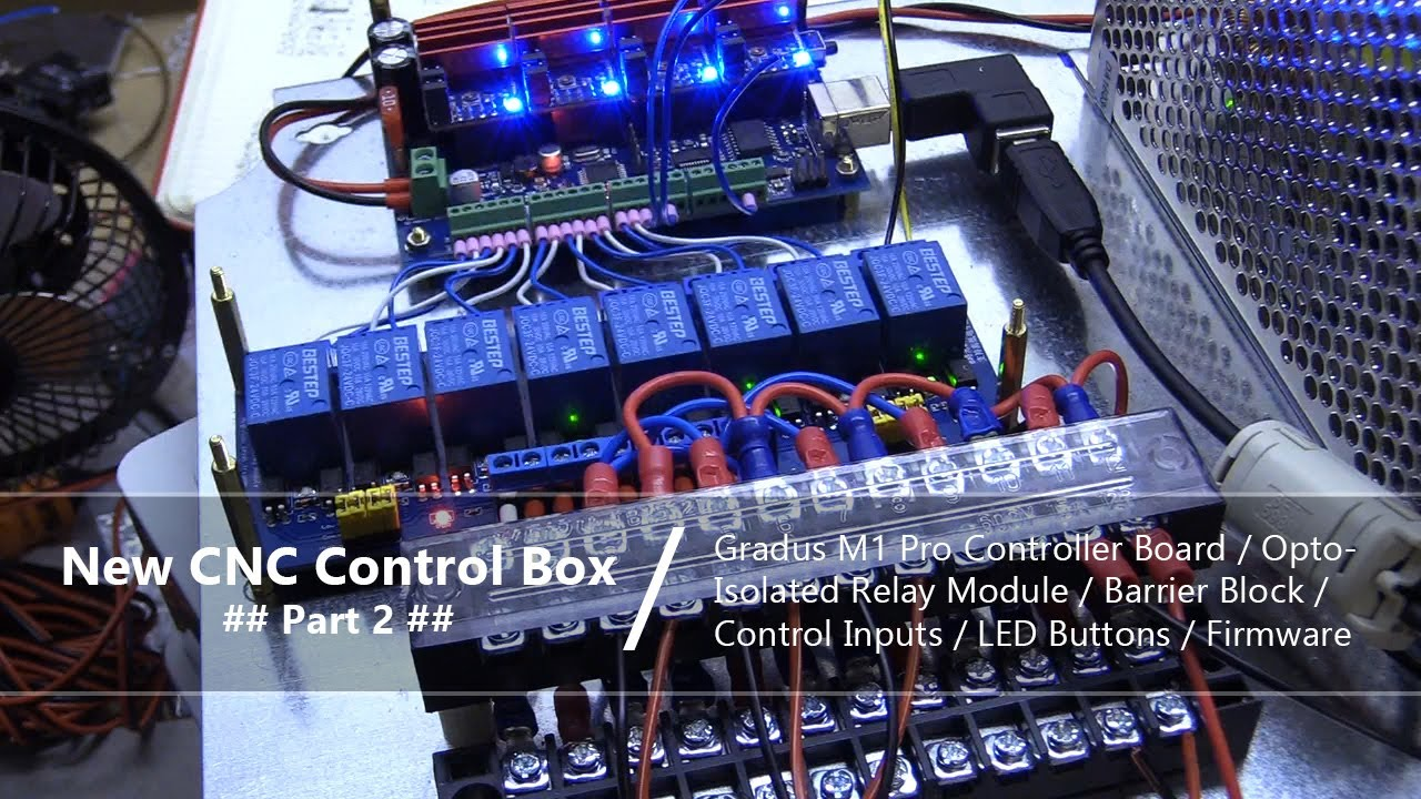 CNC Control Box Part 2 / Wiring Controller Board Inputs