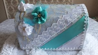 Свадебная казна сундучок коробка для поздравлений
