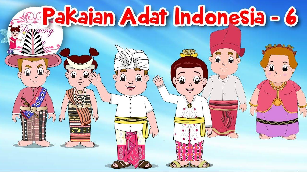 Gambar Pakaian Adat Sumatera Selatan Kartun