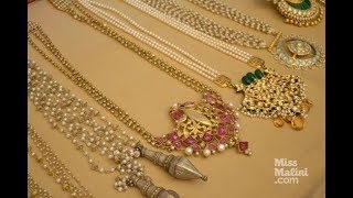South sea pearl Gold necklace latest designs