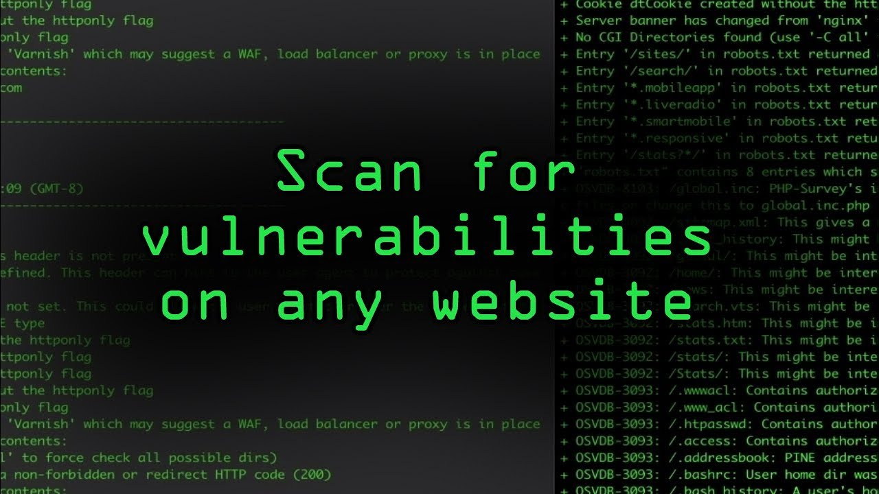 How to Scan for Vulnerabilities on Any Website Using Nikto