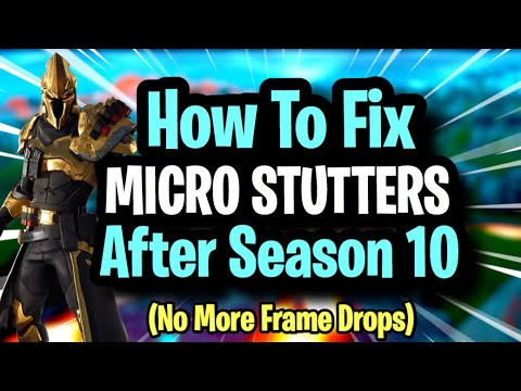 HOW TO FIX MICRO STUTTERS + FPS BOOST FOR ALL PC's (Ultimate Guide) Fortnite Season 10