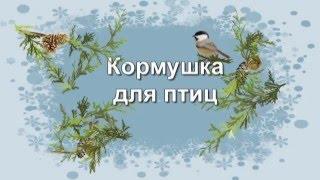 Вышивка крестиком. Кормушка для птиц 2. Работа Лидии Стадник (Софич)