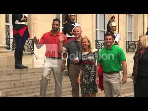 FRANCE: TRAIN HEROES HONORED (AMERICAN ARRIVALS)