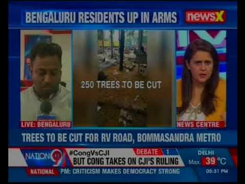 Bangalore metro rail corporation is all set to chop off over 250 trees in  Jayanagar in Bengaluru