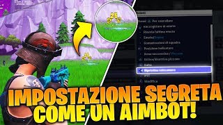"BY ACTIVATING THIS SETTING ON FORTNITE, REMOVE THE BLOOM OF THE ARMI COME A ""AIMBOT!"""