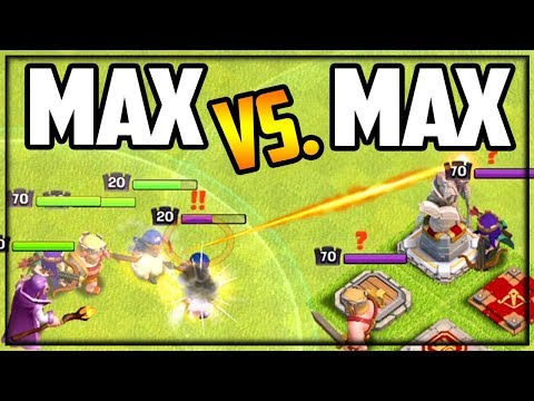 MAX Vs. MAX Town Hall 13 Villages CLASH In Clash Of Clans!