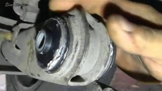 видео Замена сайлентблоков задней балки ВАЗ 2109, своими силами