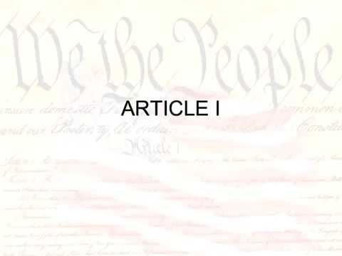 Article I