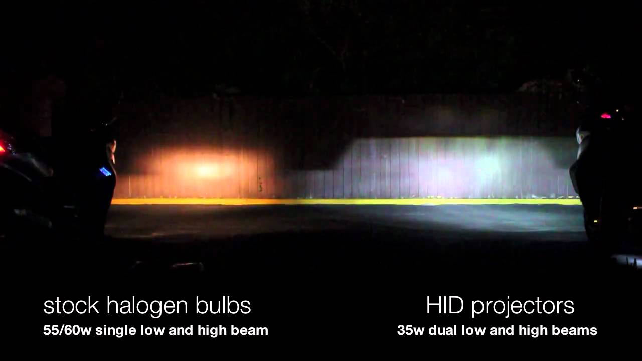 Stock Halogen Bulbs Vs Hid Projectors Youtube