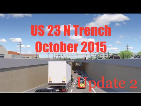 US 23 N Trench - Worthington, OH  - October 2015 - Update 2