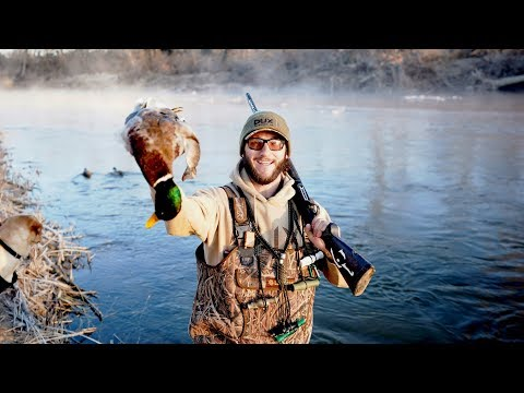 Duck Hunting The River For Big Kansas Mallards!!