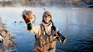 Duck Hunting the River for Big Kansas Mallards!!