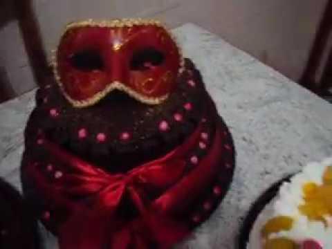 Bolo Máscara Festa A Fantasia Youtube