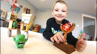 Father & Son PLAY ANGRY BIRDS IN REAL LIFE!
