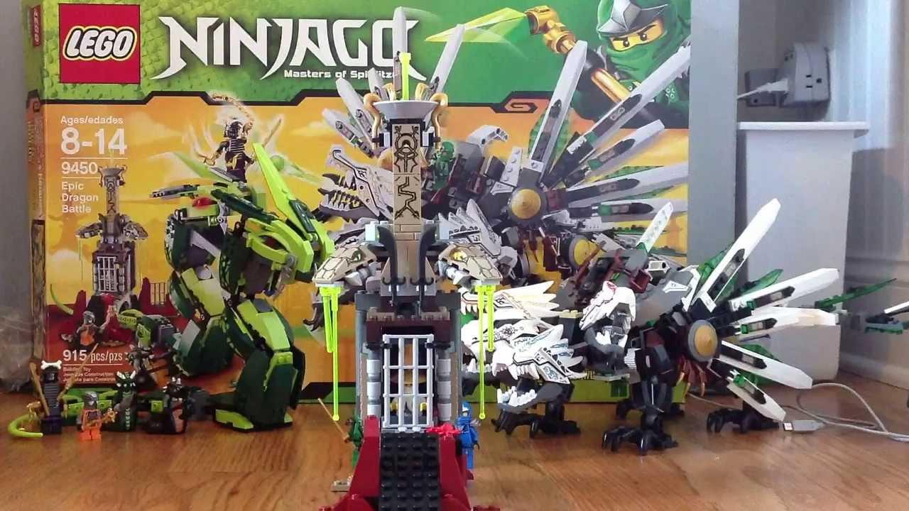 Lego ninjago set 9450 epic dragon battle review youtube - Lego ninjago le grand devoreur ...
