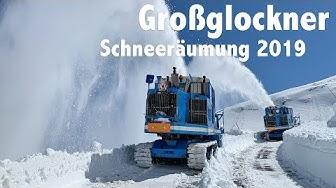 Schneeräumung auf der Großglockner Hochalpenstraße 2019