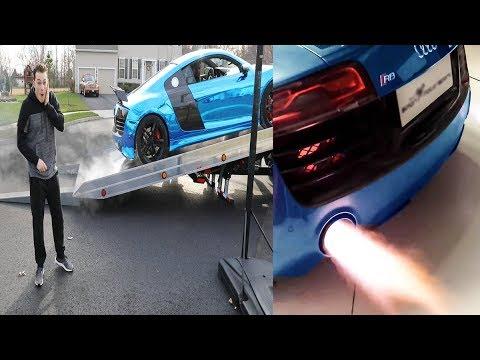 Audi R8 V10 | Lance Stewart Car | Armytrix Titanium Exhaust | Vlog & Sounds (English Subtitles)