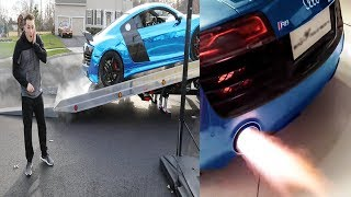 Audi R8 V10 | Lance Stewart Car | Armytrix Titanium Exhaust | Vlog & Sounds (English Subtitles)