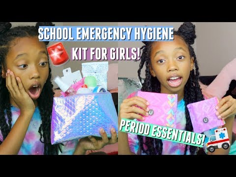 What you NEED in your PERIOD emergency kit for school 2018 | School emergency kit for girls