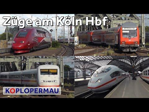 Treinen op Station Keulen Hauptbahnhof (Köln Hbf)