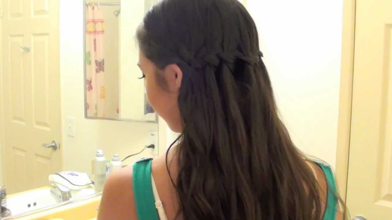 How to Waterfall Braid your own hair - YouTube
