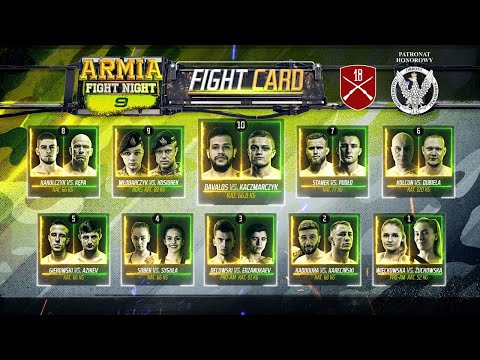 Armia Fight Night - Live Now! (Underrated Polish MMA)