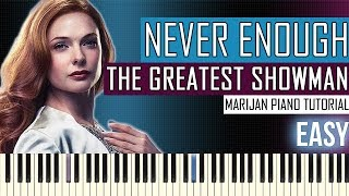 How To Play: The Greatest Showman - Never Enough | Piano Tutorial EASY + Sheets