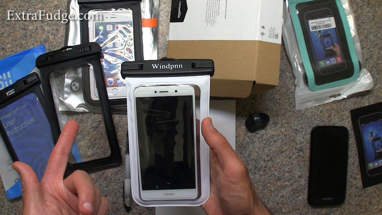 on sale 7b907 c9378 Top Rated Waterproof Phone Cases Comparison (AmazonBasics, YOSH, Trianium,  Windpnn)