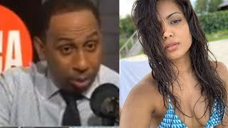 Stephen A Smith STOPS His Show To DROOL Over NY Knicks Head Coach's HOT WIFE!