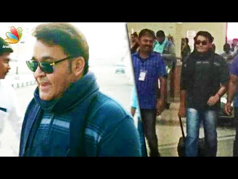 വൈറൽ ആയി മോഹൻലാലിൻറെ  ഒടിയൻ ലുക്ക് |  Mohanlal''s Airport Look Has Gone Viral On Social Media |News