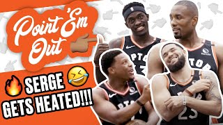 Toronto Raptors GOT Serge Ibaka HEATED! Storms Out!! 😂😂 | SLAM Point 'Em Out