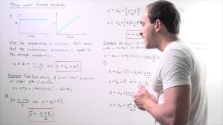 Equations of Motion under Constant Acceleration