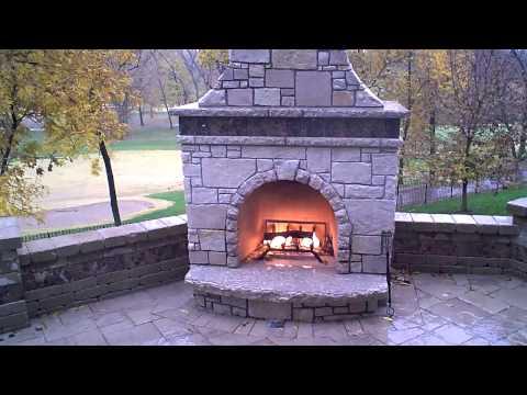 Stone Fireplace Firerock Kit with custom veneer