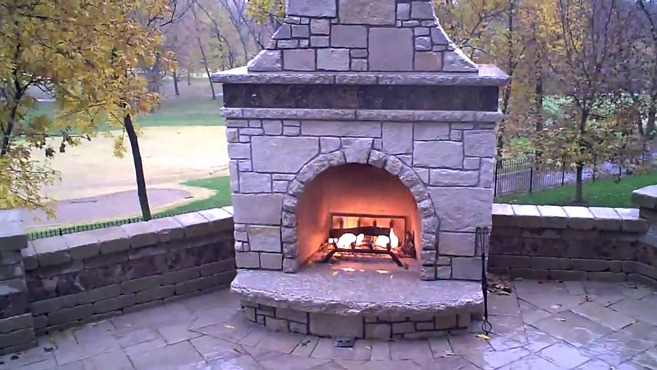 Stone fireplace firerock kit with custom veneer youtube for Firerock fireplaces