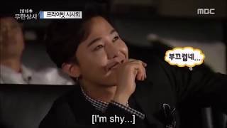 G-Dragon reacting to himself.