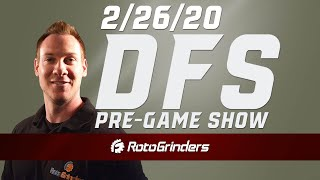 NBA DRAFTKINGS DFS PICKS AND REVIEW 2-26-20 - DFS PRE-GAME SHOW