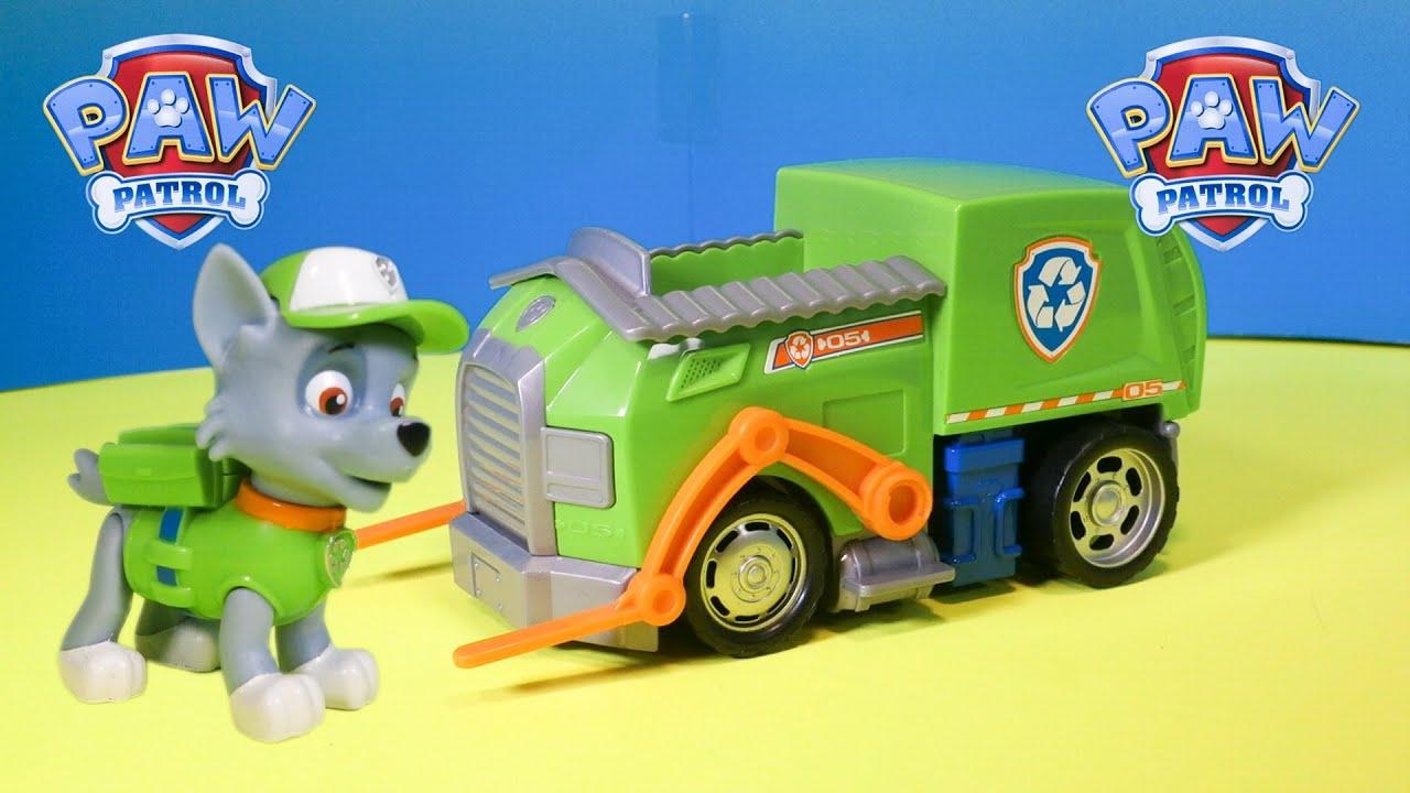 paw patrol la pat 39 patrouille rocky camion de recyclage figurine jouet pour les enfants youtube. Black Bedroom Furniture Sets. Home Design Ideas