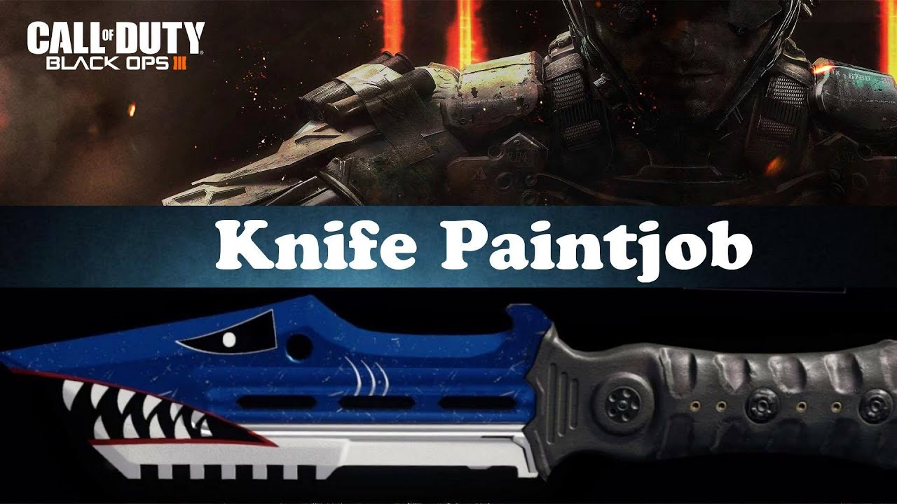 fr bo shark paintjob knife fr bo3 shark paintjob knife
