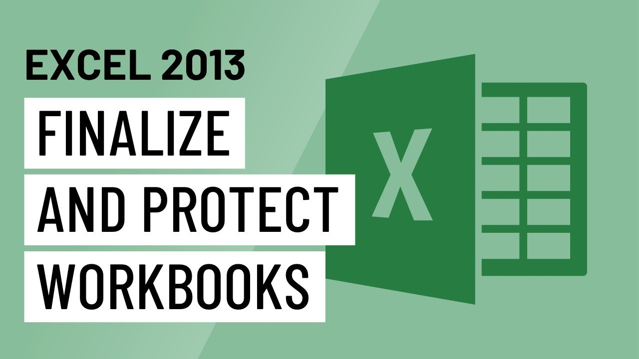 protect workbook in excel 2013