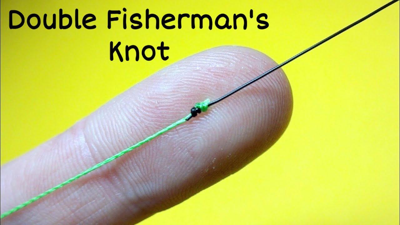 Как связать леску между собой. Соединительный узел double fisherman's knot. Лайфхаки и самоделки