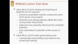 Unite 2013 - Custom Build Processes with Unity