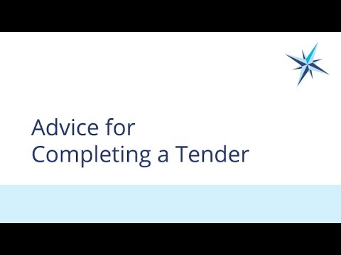 Advice for Completing a Tender