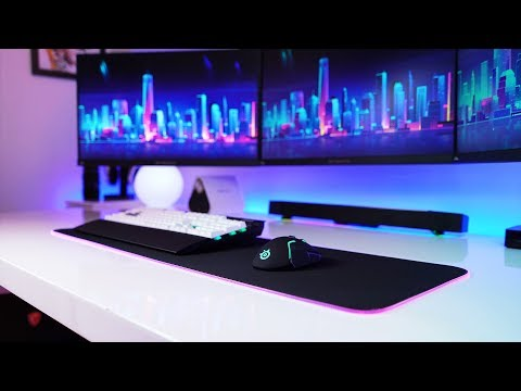 QCK Prism Extended RGB Mouse Pad & SteelSeries Rival 650.. Damn! 😍