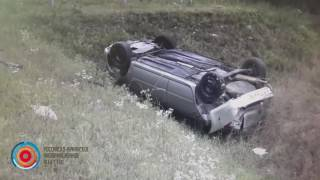 Видео с места аварии автобуса Москва Ереван
