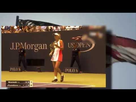 """US Open tennis women Svetlana Kuznetsova vs Caroline Wozniacki 31.8.2016"" Russia vs Denmark"