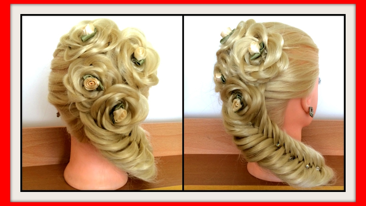 Hair Style 3d Image: 3D ROSE BRAID HAIRSTYLE WITH FISH TAIL / HairGlamour