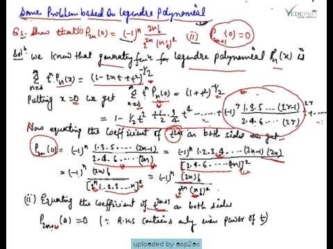 Problems On Legendre Polynomials Legendre Polynomials Examples