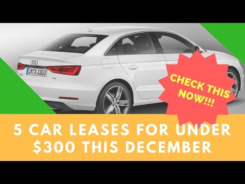 CHECK THIS !!! 5 Car Leases For Under $300 This December